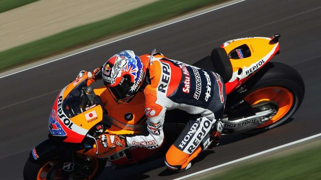 Casey Stoner siegt auch in Indianapolis