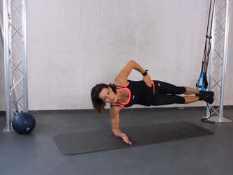 Side Plank Hip Lift mit PhysioLoop