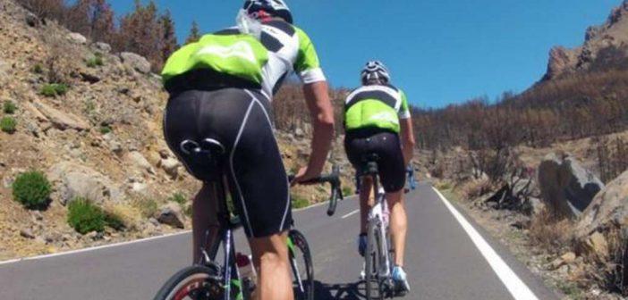 Bei guter Gesundheit im Trainingslager - Radfahren..