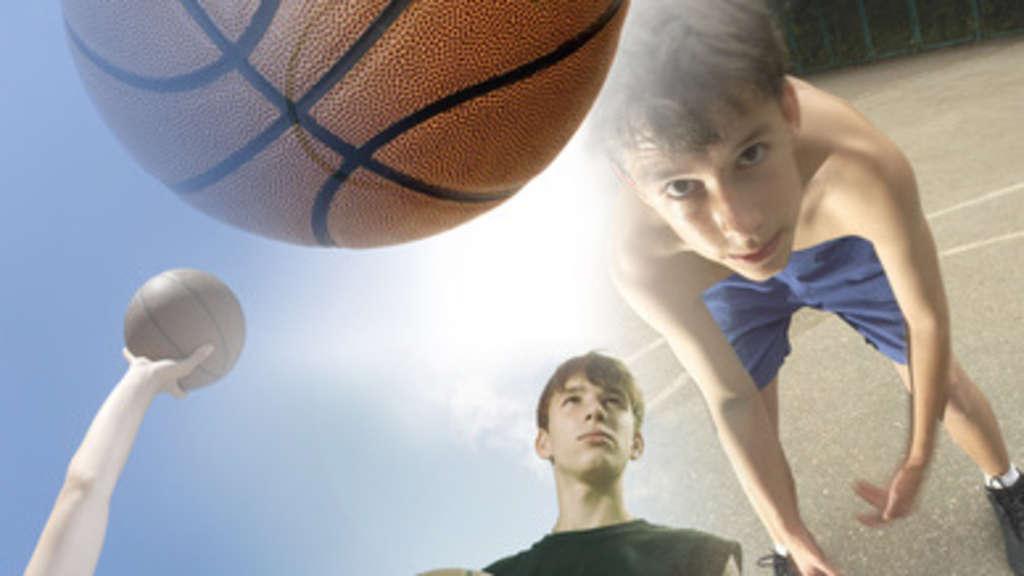 Blocken abrollen basketball