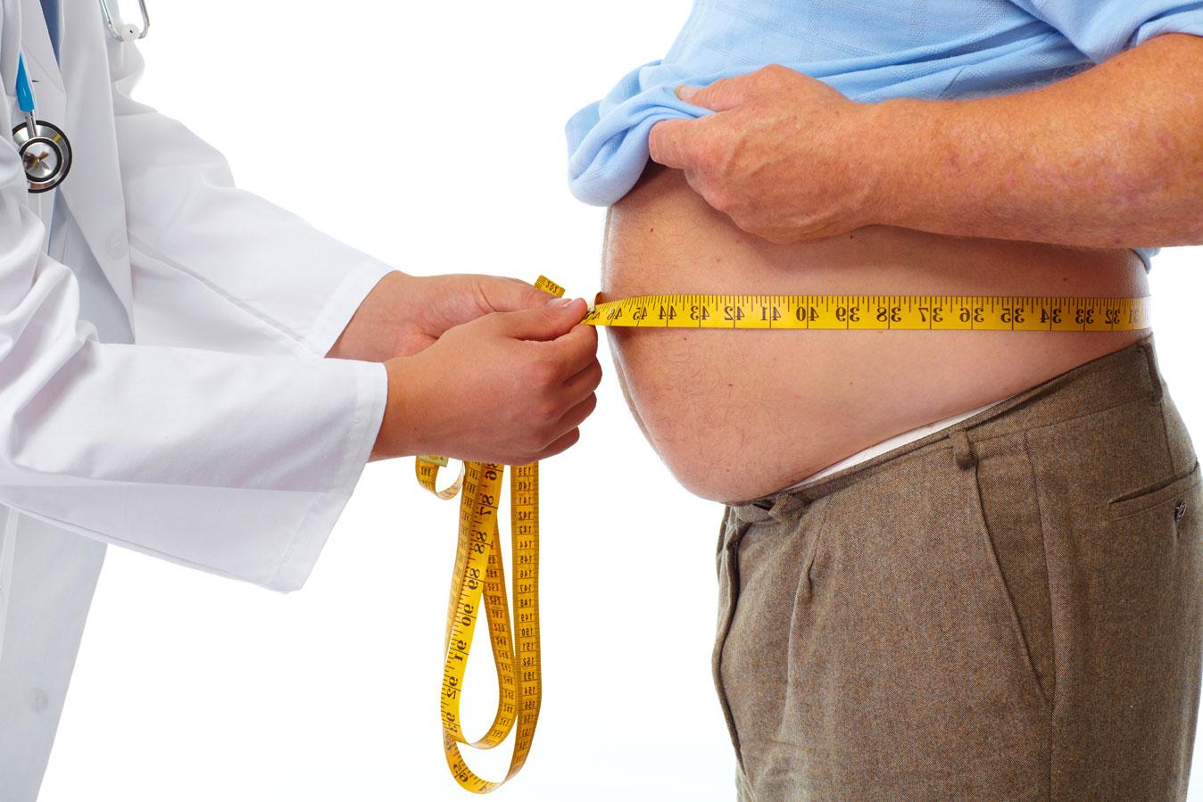 Gewichtsverlust Fettleibigkeit in Bezug auf die Zeit