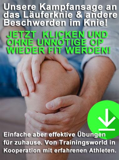 Effektive Übungen gegen Knieschmerzen und bei Beschwerden im Knie für zuhause