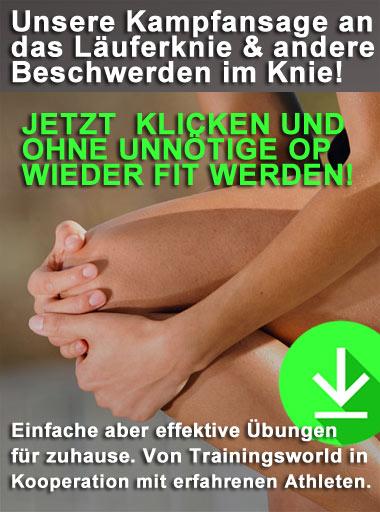 diese Übungen helfen bei einem Läuferknie