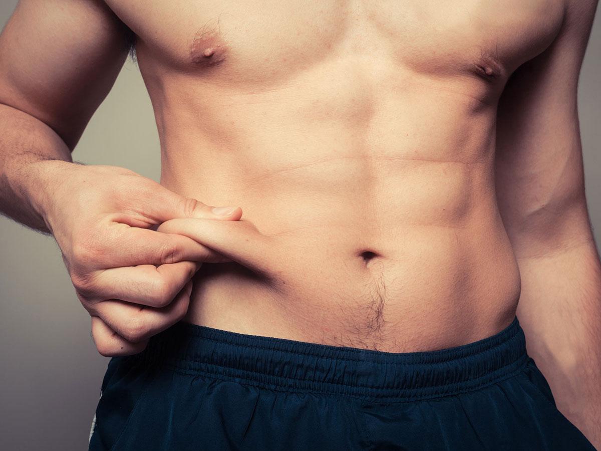 Männer, die Taille abnehmen