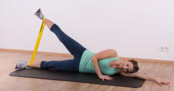 Fünf effektive Übungen mit dem Miniband