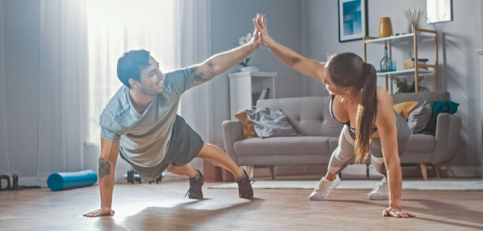 fit bleiben zuhause: uebungen und workouts