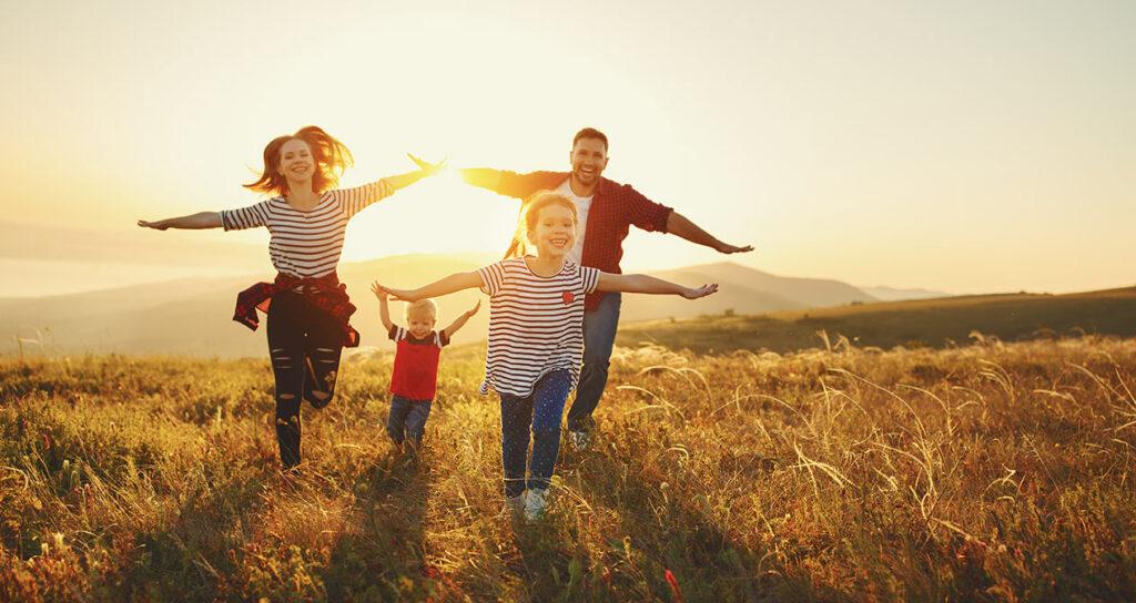 Familientraining in der Natur